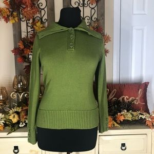 Talbots| NEW WOMENS GREEN SWEATER
